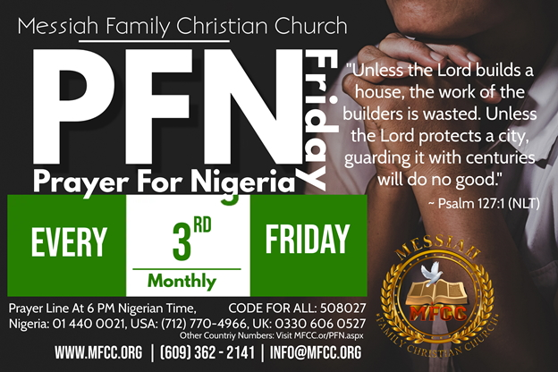 MFCC MONTHLY PRAYER FOR NIGERIA